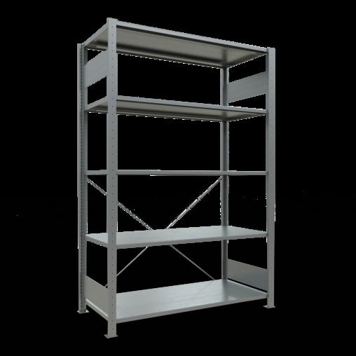 Steckregal Grundregal 2000x1300x600 mm Fachlast 150 kg 5 Fachböden SCHULTE Lagertechnik