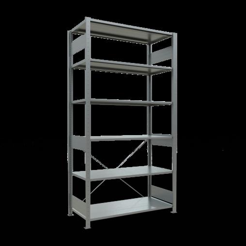 Steckregal Grundregal 2500x1300x600 mm Fachlast 150 kg 6 Fachböden SCHULTE Lagertechnik