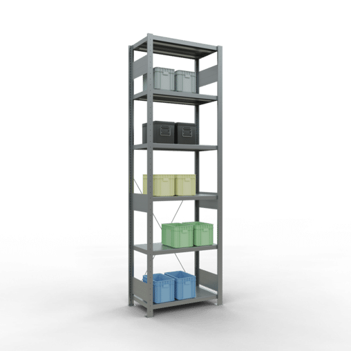 Steckregal Grundregal 2500x750x400 mm Fachlast 250 kg 6 Fachböden SCHULTE Lagertechnik