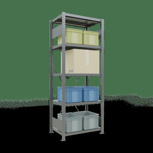 Steckregal Grundregal 2000x750x500 mm Fachlast 250 kg Rahmen montiert 5 Fachböden SCHULTE Lagertechnik