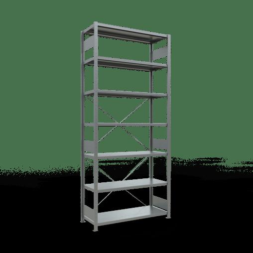Steckregal Grundregal 3000x1300x500 mm Fachlast 250 kg 7 Fachböden SCHULTE Lagertechnik