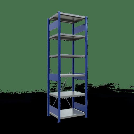 Steckregal Grundregal 2500x750x600 mm Fachlast 250 kg Rahmen montiert 6 Fachböden SCHULTE Lagertechnik