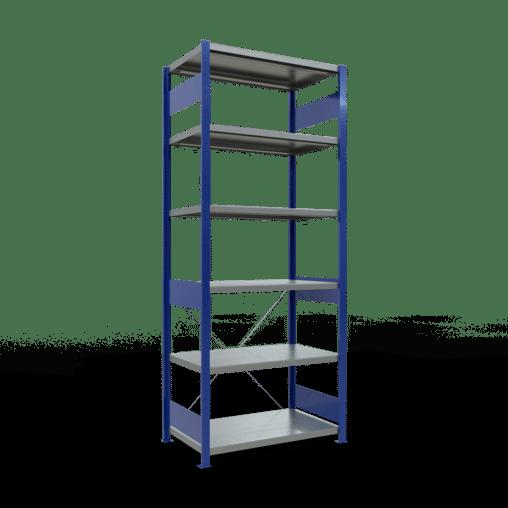 Steckregal Grundregal 2500x1000x600 mm Fachlast 250 kg Rahmen montiert 6 Fachböden SCHULTE Lagertechnik