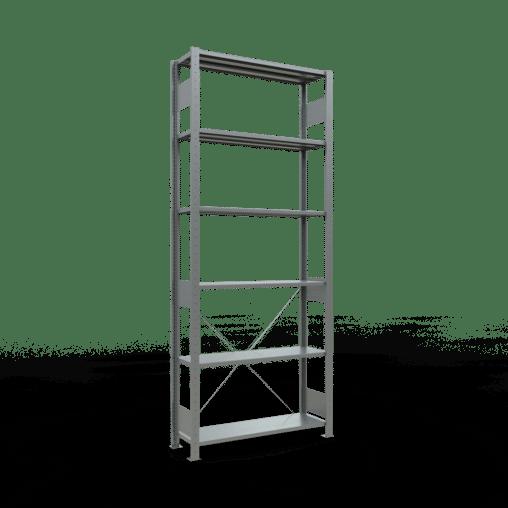 Steckregal Grundregal 2500x1000x300 mm Fachlast 85 kg Rahmen montiert 6 Fachböden SCHULTE Lagertechnik