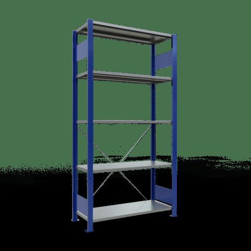 Steckregal Grundregal 2000x1000x400 mm Fachlast 85 kg Rahmen montiert 5 Fachböden SCHULTE Lagertechnik