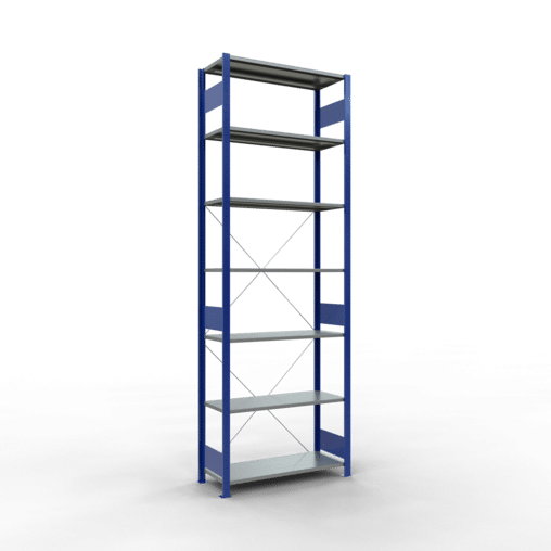 Steckregal Grundregal 3000x1000x400 mm Fachlast 85 kg 7 Fachböden SCHULTE Lagertechnik
