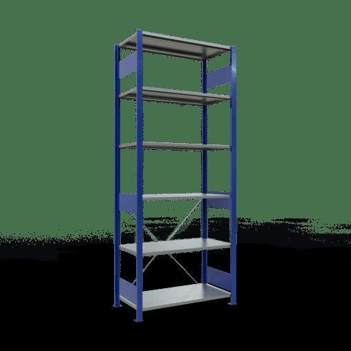 Steckregal Grundregal 2500x1000x500 mm Fachlast 85 kg Rahmen montiert 6 Fachböden SCHULTE Lagertechnik