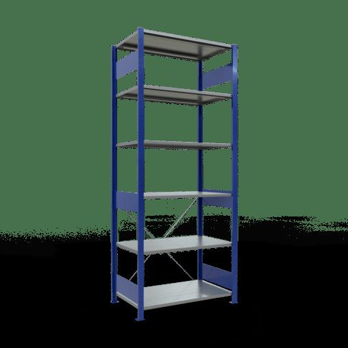 Steckregal Grundregal 2500x1000x600 mm Fachlast 85 kg Rahmen montiert 6 Fachböden SCHULTE Lagertechnik