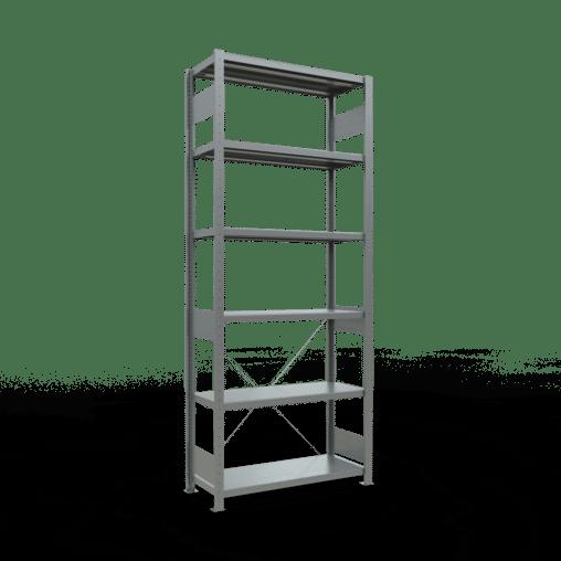 Steckregal Grundregal 2500x1000x400 mm Fachlast 330 kg Rahmen montiert 6 Fachböden SCHULTE Lagertechnik