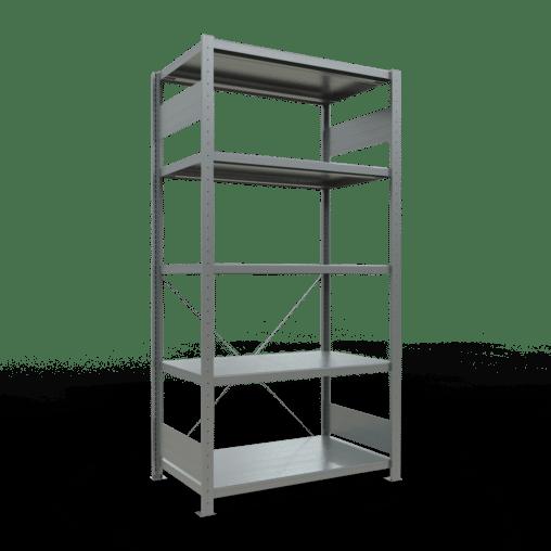 Steckregal Grundregal 2000x1000x600 mm Fachlast 330 kg Rahmen montiert 5 Fachböden SCHULTE Lagertechnik