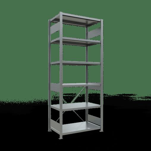 Steckregal Grundregal 2500x1000x600 mm Fachlast 330 kg Rahmen montiert 6 Fachböden SCHULTE Lagertechnik