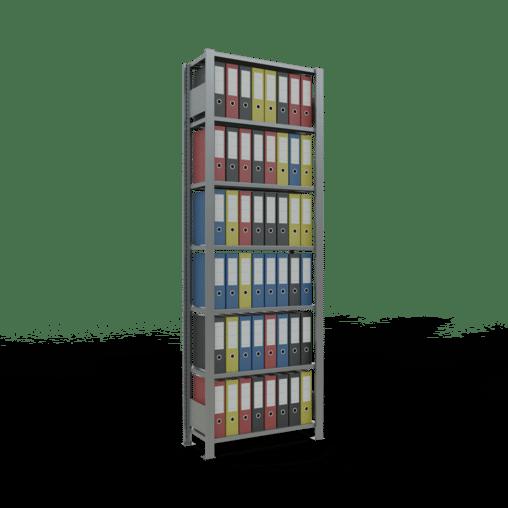 Steckregal Büroregal Grundregal 2300x750x300 mm Fachlast 85 kg ohne Anschlagleiste SCHULTE Lagertechnik