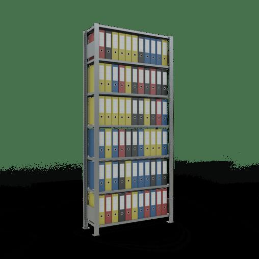 Steckregal Büroregal Grundregal 2300x1000x300 mm Fachlast 85 kg ohne Anschlagleiste SCHULTE Lagertechnik