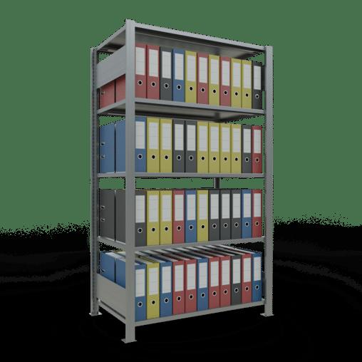Steckregal Büroregal Grundregal 1800x1000x600 mm Fachlast 150 kg ohne Mittelanschlag SCHULTE Lagertechnik