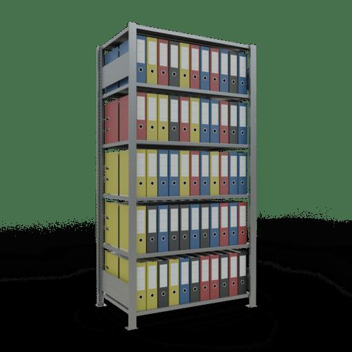Steckregal Büroregal Grundregal 2000x1000x600 mm Fachlast 150 kg ohne Mittelanschlag SCHULTE Lagertechnik
