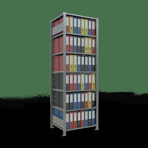 Steckregal Büroregal Grundregal 2300x750x600 mm Fachlast 150 kg ohne Mittelanschlag SCHULTE Lagertechnik