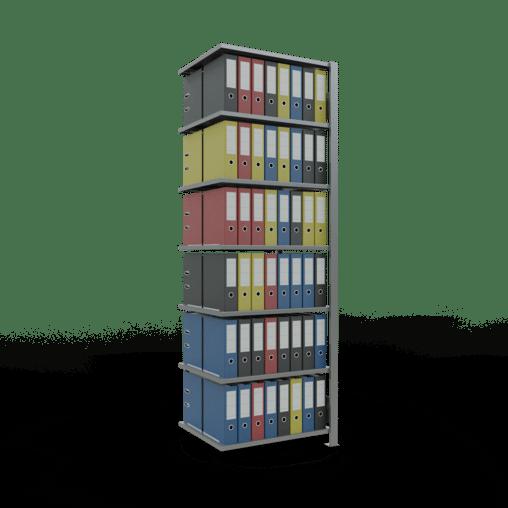 Steckregal Büroregal Anbauregal SCHULTE Stecksystem – 2300x 750×600 mm, Typ 150 kg