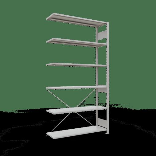 Steckregal Anbauregal 2500x1000x400 mm Fachlast 150 kg Rahmen montiert 6 Fachböden SCHULTE Lagertechnik
