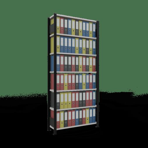 Steckregal Büroregal Grundregal 2300x1000x300mm Fachlast 85 kg mit Anschlagleiste SCHULTE Lagertechnik