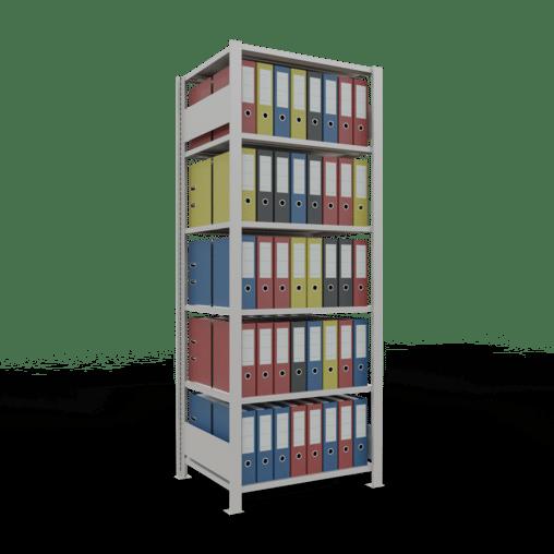 Steckregal Büroregal Grundregal 2000x750x600 mm Fachlast 150 kg ohne Mittelanschlag SCHULTE Lagertechnik