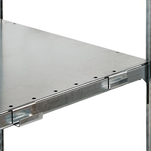 Aufhängekonsole für Ecklösung – verzinkt für 25 mm Kantenhöhe