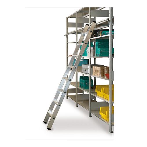 Aluminium Regalleiter einhängbar – 18 Stufen