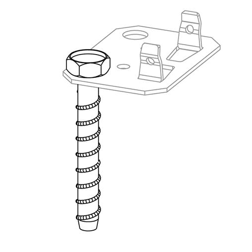 Befestigungsset zur Befestigung von Regalen am Boden – Stecksystem