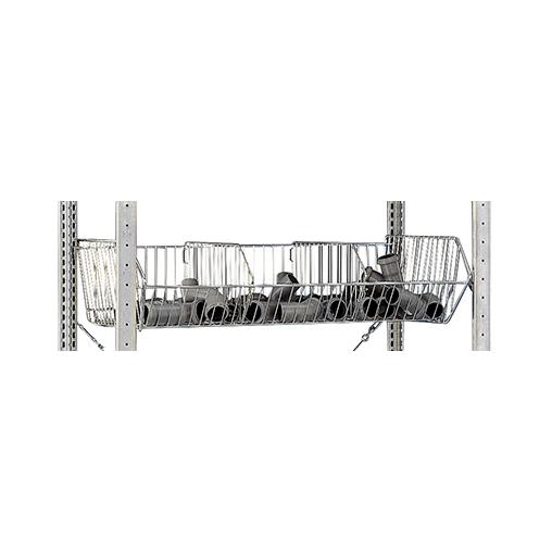 Drahtkorb 1000x500x245 mm (BxTxH) – mit 4 Fachbodenträgern