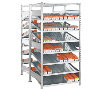 Kanbanregal Doppel-Grundregal von SCHULTE Lagertechnik online kaufen bei Kauf-dein-Regal.de