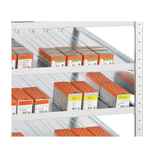 Seitenführung 400 mm verzinkt – für Schrägbodenregal
