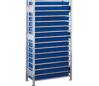 Kleinteileregal-Set Blau von SCHULTE Lagertechnik online kaufen bei Kauf-dein-Regal.de