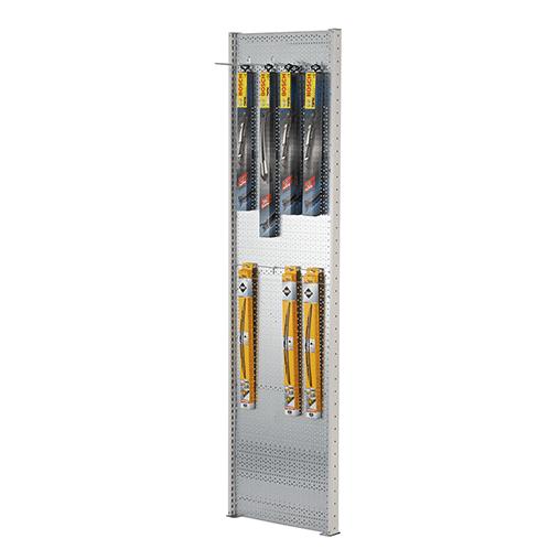 Euro-Lochblech-Seitenwand für – T-Profil-Rahmen HxT 1000×400 mm SCHULTE Lagertechnik