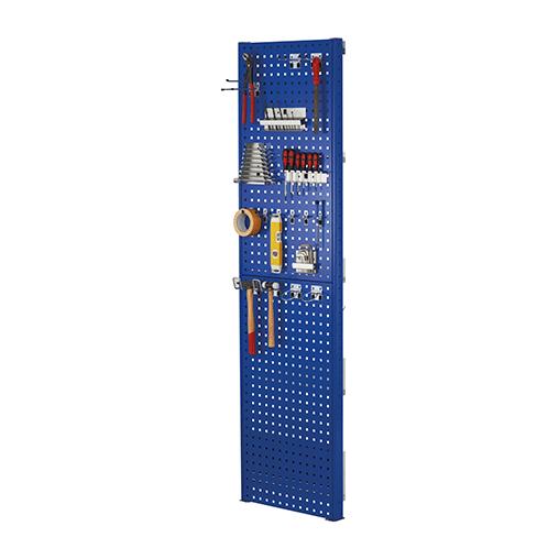 Lochplatten-Seitenblende – 1000×600 mm, HxT – RAL 7035 Lichtgrau SCHULTE Lagertechnik