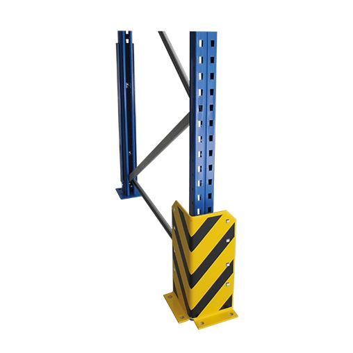 Rammschutzecke L-Form, 400 mm – mit Befestigungsset, gelb/schwarz