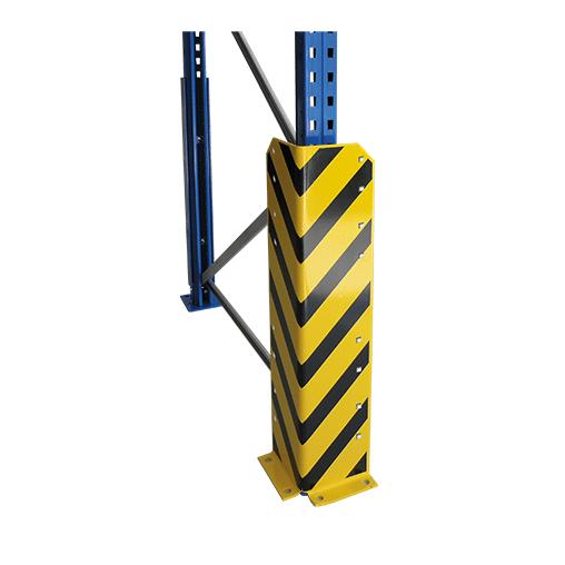 Rammschutzecke gelb/schwarz – mit 4 Schraubankern, Höhe 800 mm