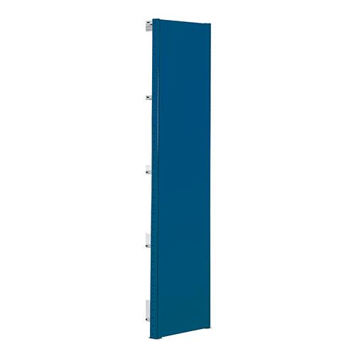 Vollblech-Seitenblende – 1000×300 mm RAL 5010 Enzianblau SCHULTE Lagertechnik