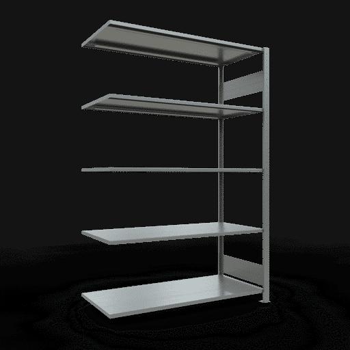 Steckregal Anbauregal  2000x1300x600 mm,   Fachlast 150 kg Rahmen montiert mit Längenriegel SCHULTE Lagertechnik