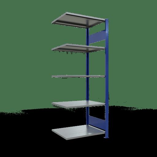 Steckregal Anbauregal  2000x 750×600 mm,   Fachlast 150 kg Rahmen montiert mit Längenriegel SCHULTE Lagertechnik