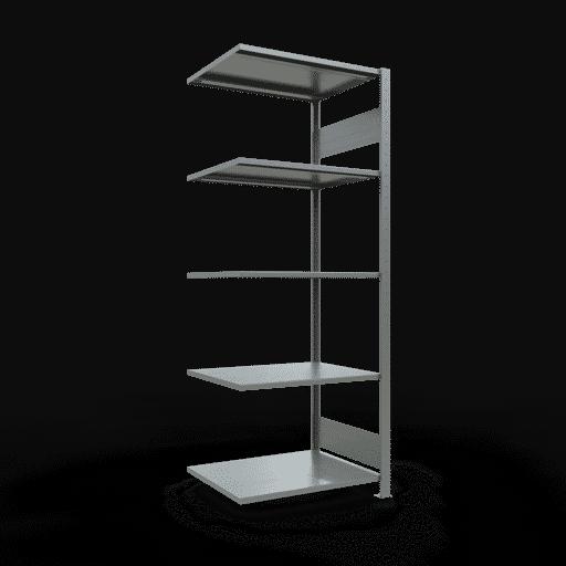 Steckregal Anbauregal  2000x 750×600, Fachlast 150 kg  Rahmen montiert mit Längenriegel SCHULTE Lagertechnik