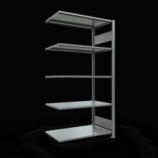 Steckregal Anbauregal  2000x1000x600 mm, Fachlast 150 kg Rahmen montiert mit Längenriegel SCHULTE Lagertechnik
