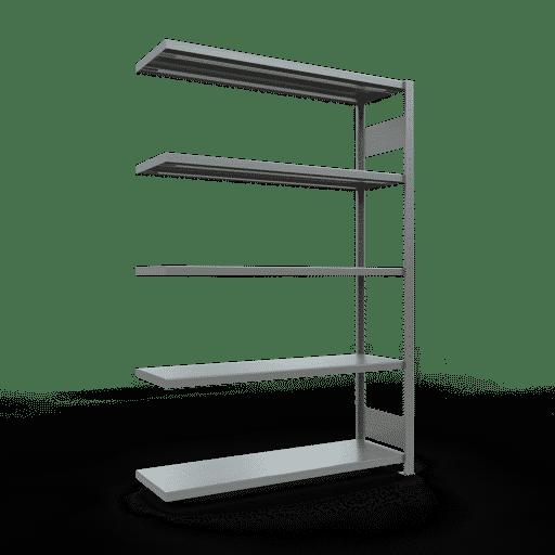Steckregal Anbauregal  2000x1300x400 mm, Fachlast 250 kg Rahmen montiert mit Längenriegel SCHULTE Lagertechnik