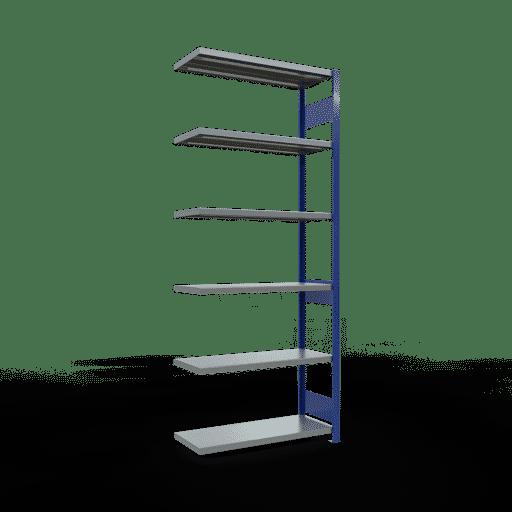 Steckregal Anbauregal  2500x1000x400 mm, Fachlast 250 kg Rahmen montiert mit Längenriegel SCHULTE Lagertechnik