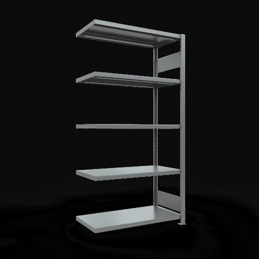 Steckregal Anbauregal  2000x1000x500mm,Fachlast 250 kg Rahmen montiert mit Längenriegel SCHULTE Lagertechnik