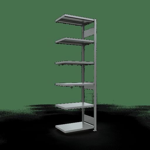 Steckregal Anbauregal  2500x 750×500, Fachlast 250 kg  Rahmen montiert mit Längenriegel SCHULTE Lagertechnik