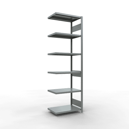 Steckregal Anbauregal  2500x1000x500mm,Fachlast 250 kg Rahmen montiert mit Längenriegel SCHULTE Lagertechnik