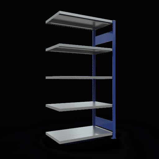 Steckregal Anbauregal  2000x1000x600 mm, Fachlast 250 kg Rahmen montiert mit Längenriegel SCHULTE Lagertechnik