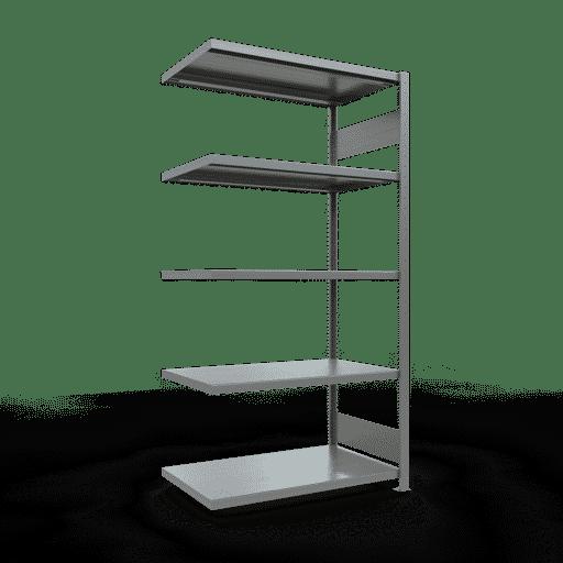 Steckregal Anbauregal  2000x1300x600 mm, Fachlast 250 kg Rahmen montiert mit Längenriegel SCHULTE Lagertechnik