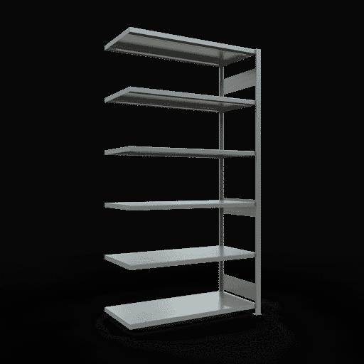 Steckregal Anbauregal  2500x1300x600 mm, Fachlast 250 kg Rahmen montiert mit Längenriegel SCHULTE Lagertechnik