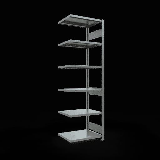 Steckregal Anbauregal  2500x 750×600 mm, Fachlast 250 kg Rahmen montiert mit Längenriegel SCHULTE Lagertechnik