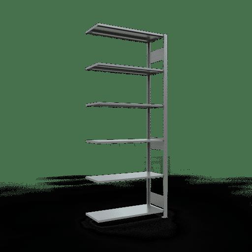 Steckregal Anbauregal  2500x1000x400mm, Fachlast 85 kg Rahmen montiert mit Längenriegel SCHULTE Lagertechnik